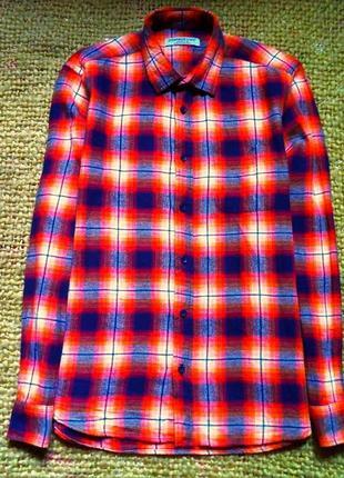 Стильная яркая фирменная рубашка в клетку cedarwood state