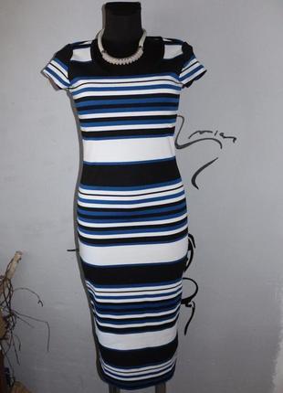Миди платье в полоску reserved