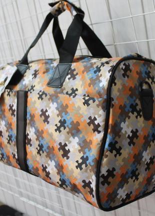 Сумка, сумка дорожная, сумка спортивная, пазлы, ручная кладь
