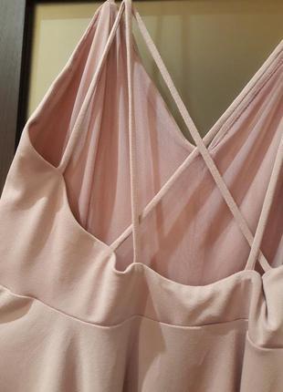 Платья сарафан нежный розовый цвет