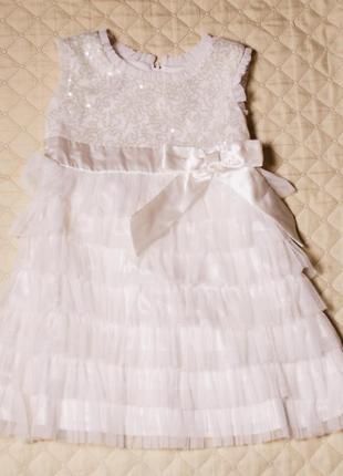 40b1f895234 Нежное нарядное платье для девочки