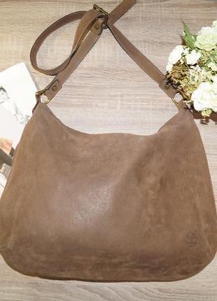Timberland! италия! кожа/нубук! стильная и вместительная сумка - мешок