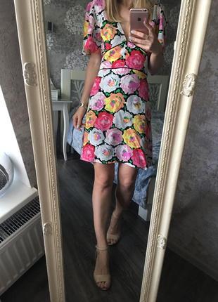 Платье zara в цветы