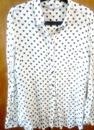 Блуза в сердечки размер м