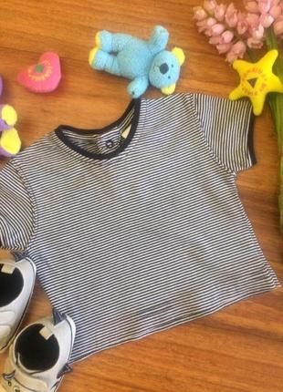 Регланчик,футболочка в полоску для маленького малыша baby club 1-3 месяцев