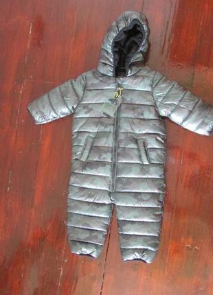 Next камуфляжный  зимний комбинезон