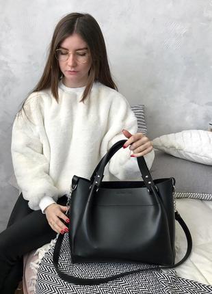 Черная сумка-шоппер, сделана в украине!5