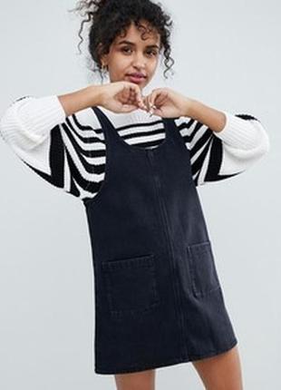 Джинсовое платье сарафан известного английского брэнда heartbreak, l-m