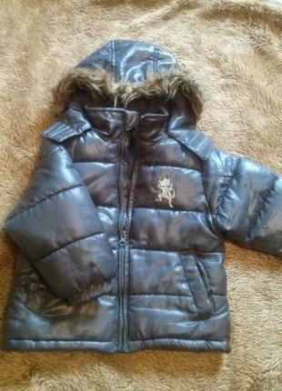 Шикарная фирменная куртка 12-24 месяца