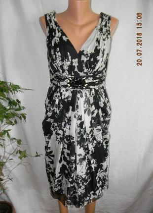 Новое нарядное  шелковое платье teatro