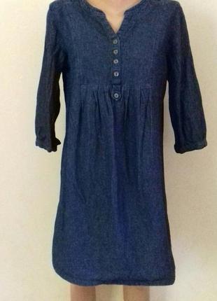 Джинсовое платье -туника