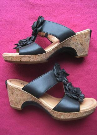 Gabor comfort (37) кожаные сабо шлепанцы женские