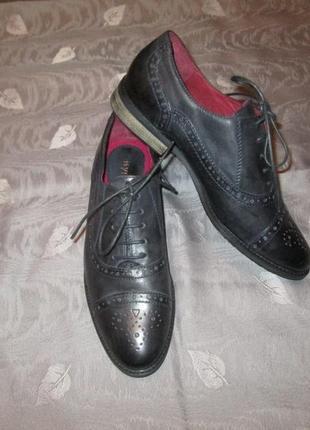 Кожаные оксфорды броги citygate женские туфли ecco clarks  низкий каблук