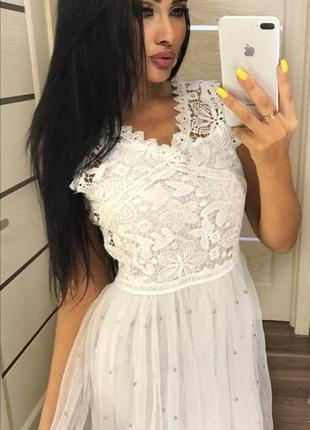 Очень красивое платье сетка фатин