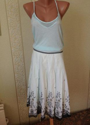 Шикарная красивая юбка с палетками и бисером