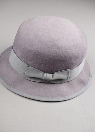 Красивая шерстяная шляпа капелюх с бантиком от h&m