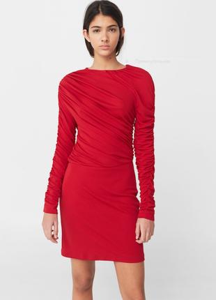 Стильное красное платье mango