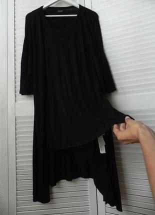 Вискозная мега стильная футболка-кардиган,унисекс,оригинал  (42 р. и больше см.замеры)