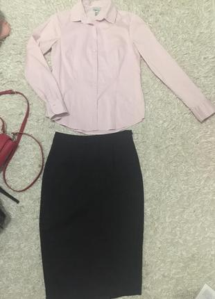 Розовая рубашка h&m