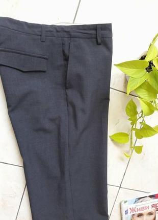 Легкие прямые брючки/брюки/штанишки на лето, р.м 10(44), с лицевой стор - как новые!