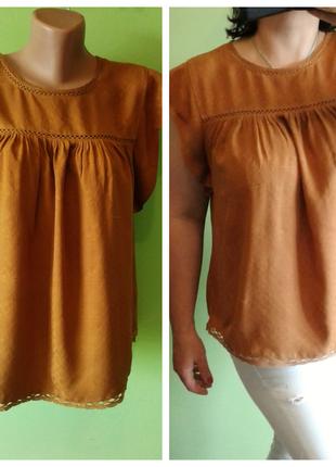 Рыжая блуза 12 , 14 размер