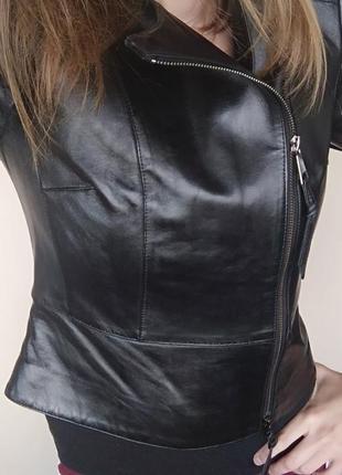 Новая куртка косуха кожанка бомбер натуральная срочно