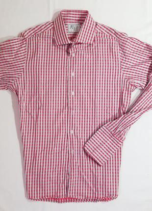 Брендовая мужская рубашка на запонках abbott& jones анлия