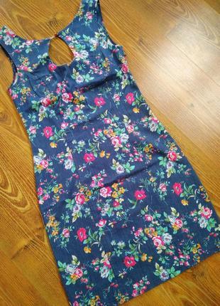 Оригинальное летнее джинсовое платье турция