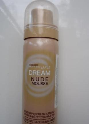 Тональный мусс maybelline dream nude mousse
