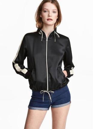 Крутейшая куртка бомбер с лампасами h&m