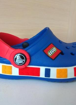 Детская модель crocs lego кроксы лего синие