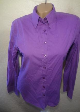 Фиолетовая рубашка/блуза размер м