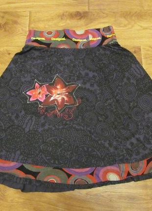 Новая коттоновая юбка desigual