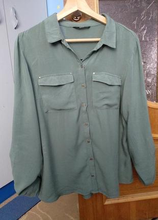 Only рубашка хаки, блузка цвет хаки