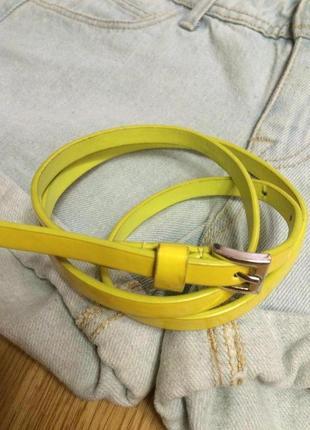 Крутой желтый ремень accessorize,лаковый ремешок,пояс,поясок в подарок