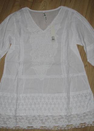 Шикарная белая туника тм fresh cotton новая коллекция 20182