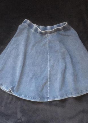 943160f20ef ... Джинсовая юбка клеш от topshop новая