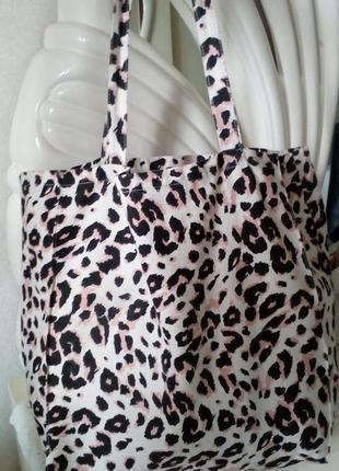 Пляжная сумка сумка шопер хлопок