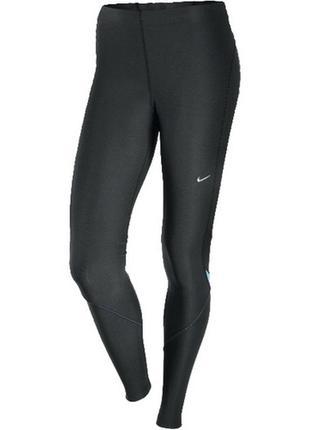 Спортивные леггинсы чёрные лосины от nike fit dry