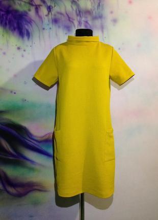 Мое любимое платье горчичного цвета