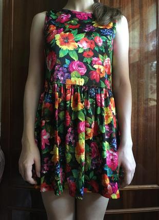 Цветное короткое платье