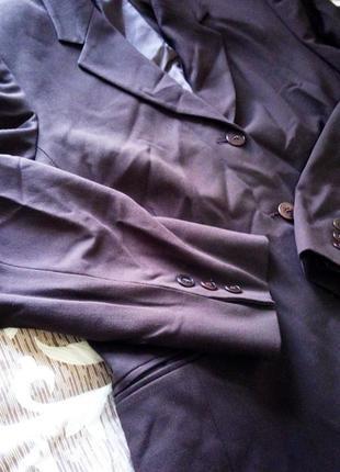 1+1=3 коричневый удлиненный пиджак маркс енд спенсер