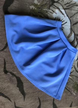 Синяя юбка от boohoo (маленькая!)