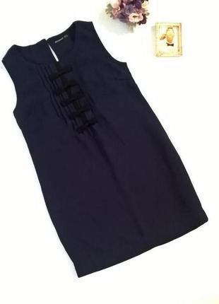 Короткое платье футляр синее
