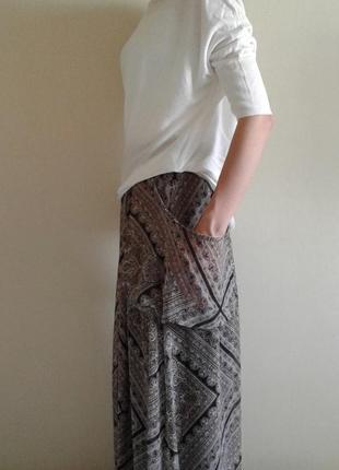Стильная юбка в пол из шифона
