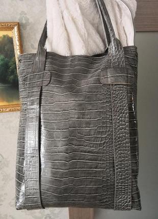 Очень большая кожаная сумка-мешок jigsaw