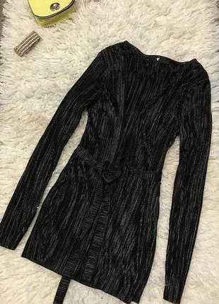 Блуза тренч плиссе в бельевом стиле