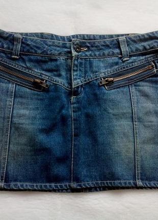 Отличная джинсовая юбка amisu