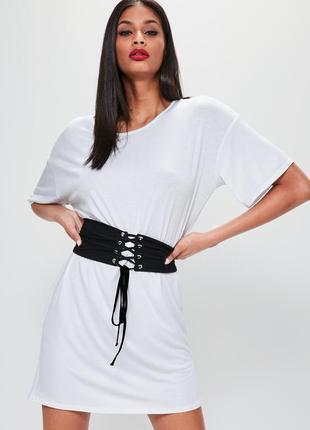 Платье - футболка на шнуровке/ платье с корсетом