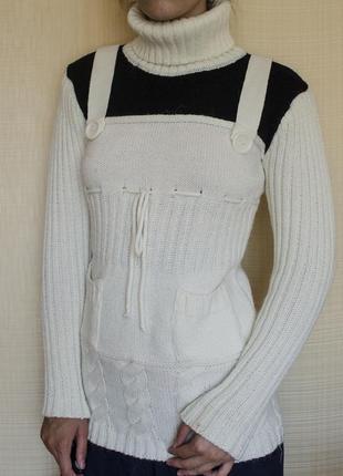 Фірмова тепла в'язана кофта светр туніка оригінального дизайну марки alperen